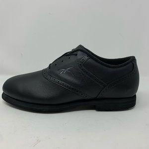 Reebok Mens Oxford Black Leather Golf Shoes Sz 9